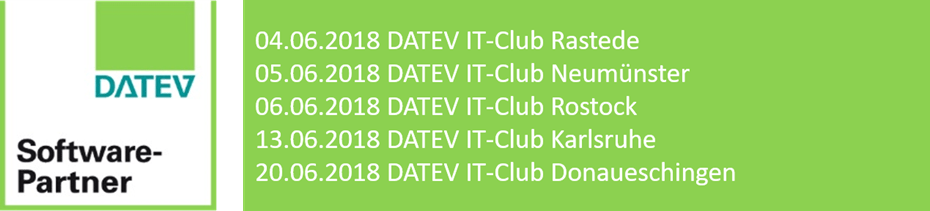 Fünf DATEV IT-Clubs im Juni